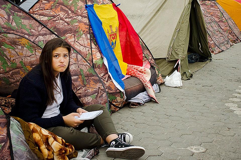 Очередная волна протестных акций нахлынула на Молдову в сентябре 2015 года. Фото: Вадим Денисов/ТАСС