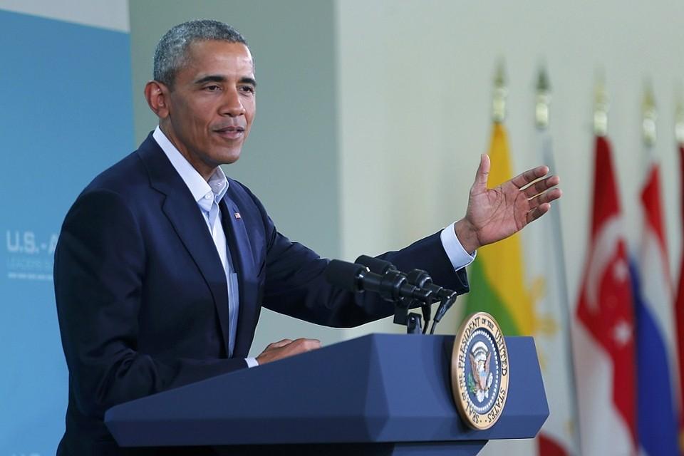 Президент США Барак Обама на пресс-конференции в Калифорнии