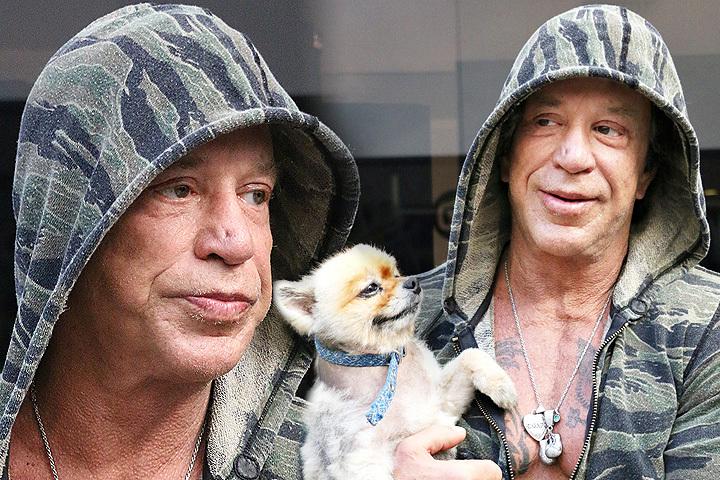 Бывший голливудский секс-символ Микки Рурк выглядит сегодня словно бездомный.