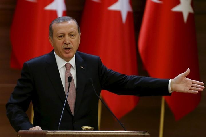 Во время своего выступления президент Турции выступил с критикой в адрес России, США, Ирана, ООН и Европейского союза в вопросах перемирия в Сирии.