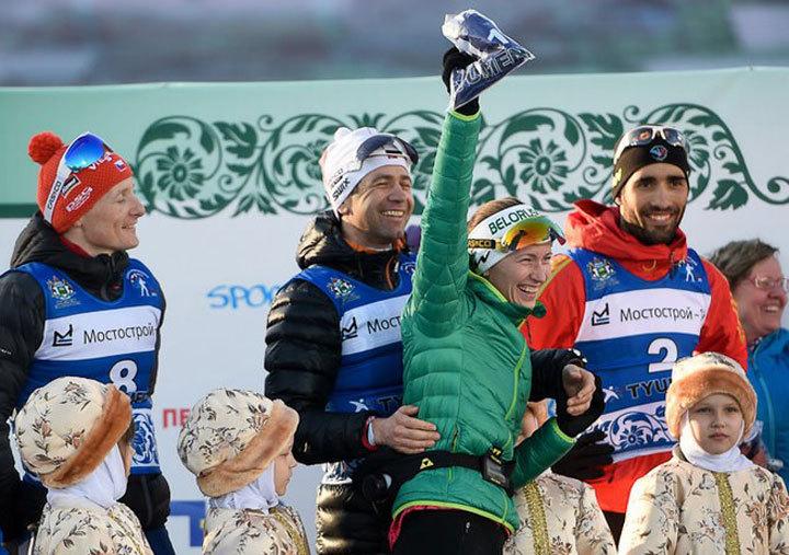 Оле-Эйнар Бьорндален имеет возможность эффектно завершить карьеру на родине и пробежать и за себя, и за Дарью Домрачеву. Фото: biathlonrus.com