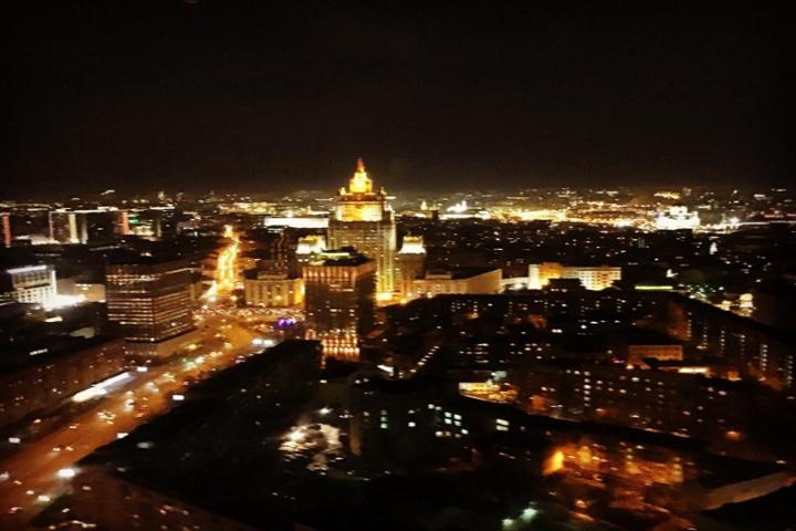 Медведев сфотографировал ночную Москву ФОТО: Инстаграм Медведева