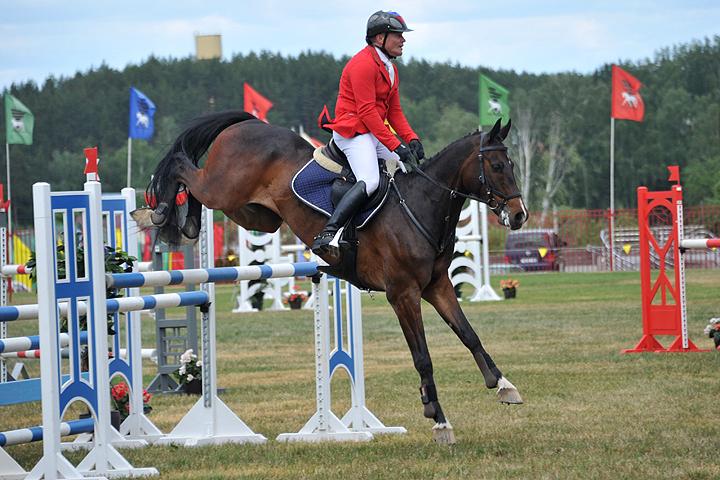 Андрей Митин, член сборной России по конному спорту, будет выступать в Рио в троеборье.