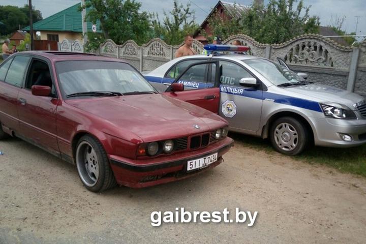 В результате происшествия инспектор ГАИ сильно не пострадал. Фото: gaibrest.by