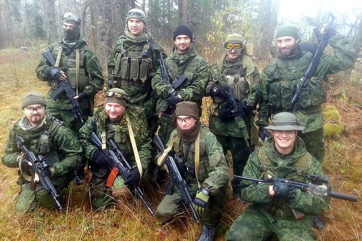ВЛатвии милиция безопасности избила страйкболистов в русской форме