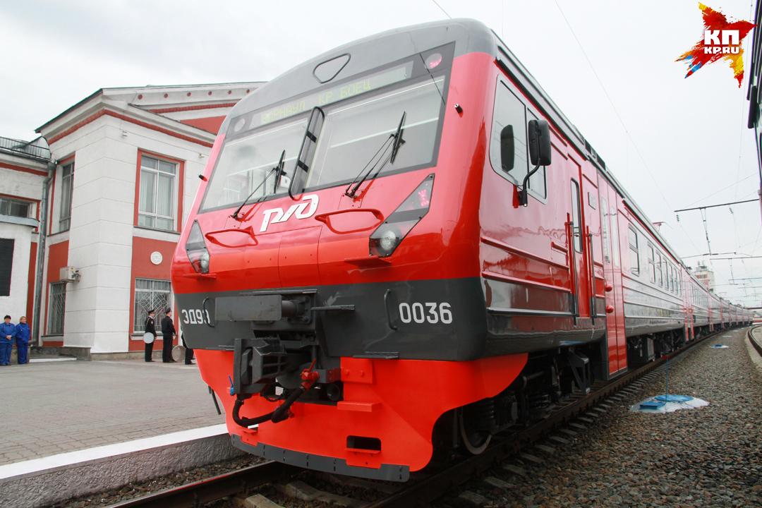 ДМЗ установил электропоезда серии ЭД9Э вАлтайский край
