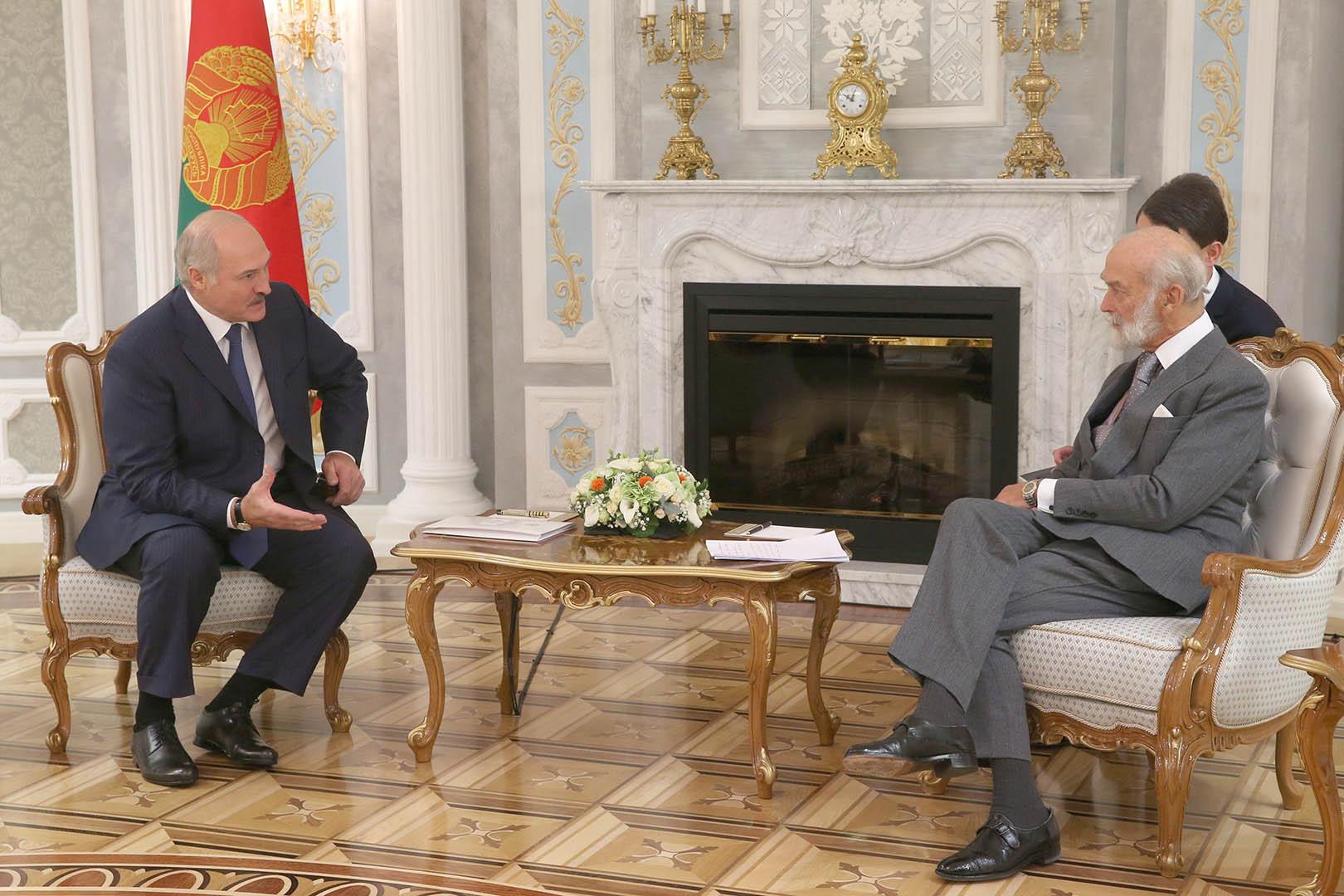 Принц Майкл Кентский встретился с президентом Александром Лукашенко. Фото: БелТА