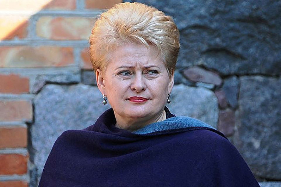 Глава литовского государства Даля Грибаускайте. Фото: с сайта president.lt