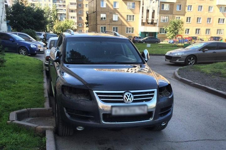 ВКузбассе задержаны похитители фар сдорогих иномарок