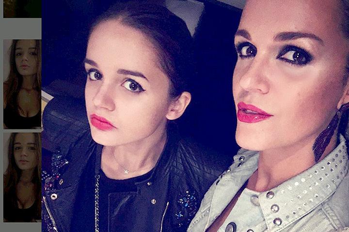 Певица Слава с дочкой.