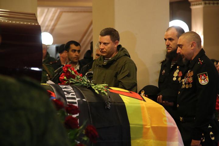 Александр Захарченко на церемонии прощания