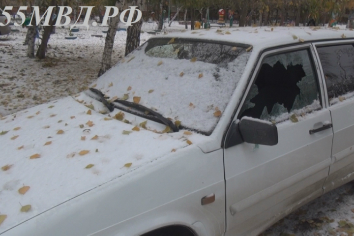НаЛевобережье вОмске под утро разбили стёкла 12 авто