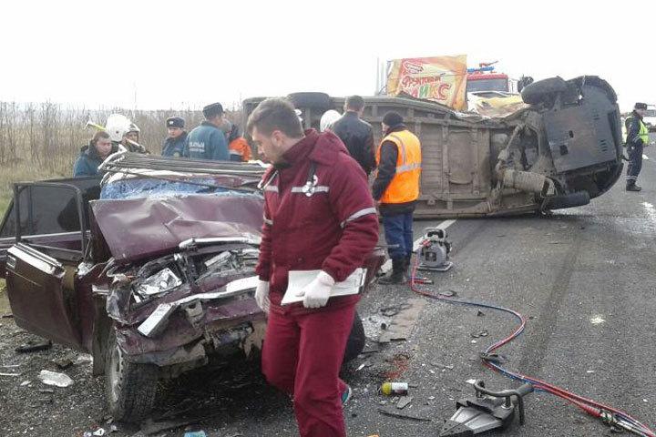 Нафедеральной трассе «Кавказ» вДТП погибли три человека