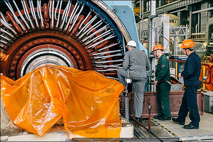 """Поломавшийся генератор. Фото сделано 16 ноября. Фото: """"РосЭнергоАтом""""."""