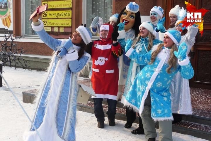 В Новокузнецке прошел Парад Снегурочек