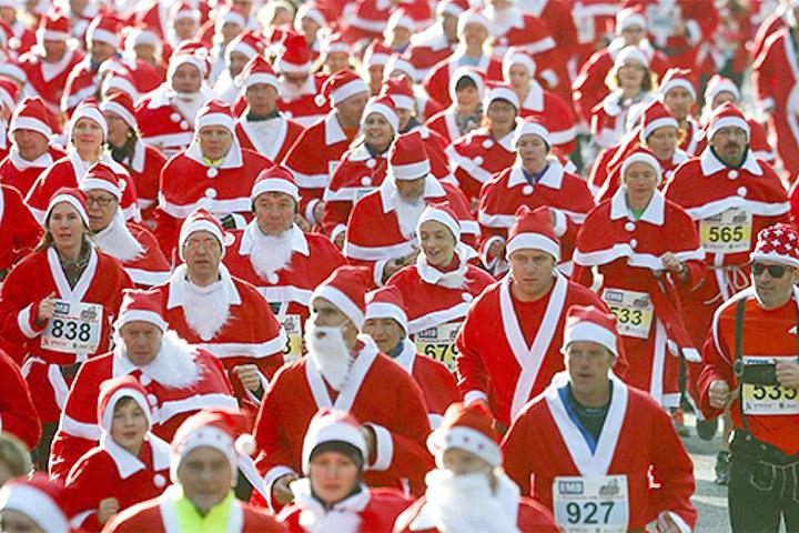 Забег Санта Клаусов пройдет в Стокгольме.