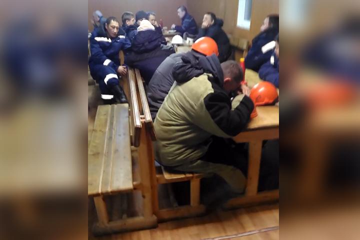 Фото: кадр из видео, снятого вахтовиками.