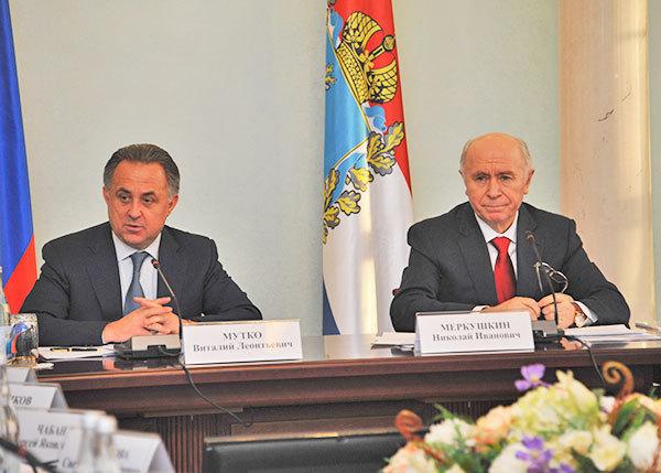 Вице-премьер РФ и глава региона обсудили важнейшие вопросы готовности к мировому турниру. Фото: Дмитрий Бурлаков.