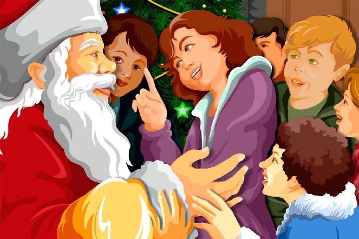 Трудно объяснить детям, что Дед Мороз выдуман.