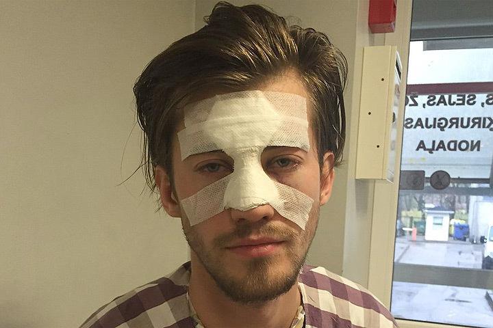 В Риге британский военнослужащий избил латыша. Фото: Twitter