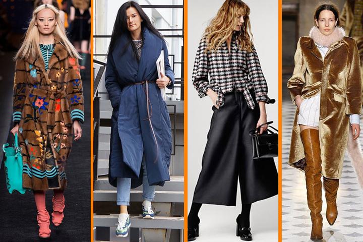 Зимой в моде пуховики-одеяла и искусственные шубы.