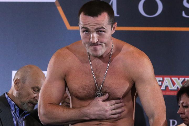 Чемпион мира в первой тяжелой весовой категории по версии WBA и IFB Денис Лебедев. Фото: Валерий Шарифулин/ТАСС