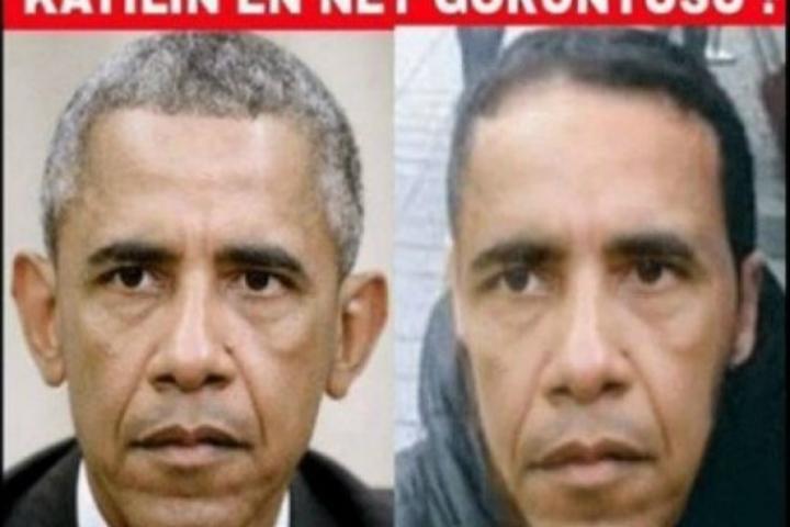 Обама попал на лозунги орозыске террориста вТурции