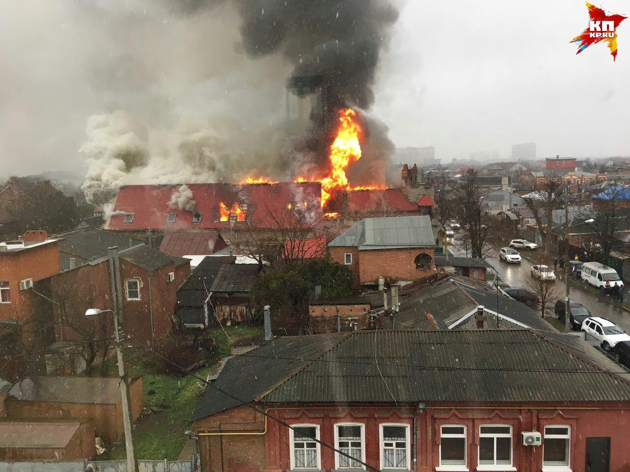 ВКраснодаре ликвидировали огонь в личном доме