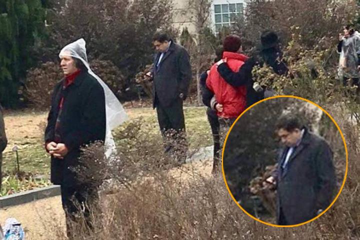 Михаил Николозович действительно пришел на церемонию инаугурацию, но, как бы это помягче выразиться – присутствовал на ней в отдалении Фото: Facebook Али Реза Резазаде