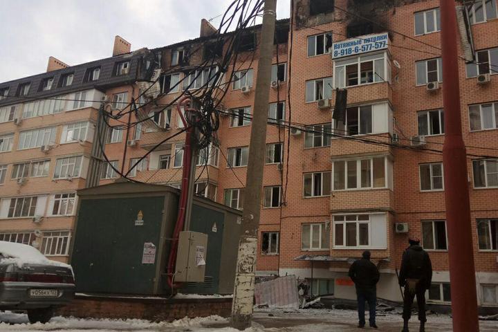 ВКраснодаре изсгоревшего дома наПрокофьева вывезли 264 кубометров мусора