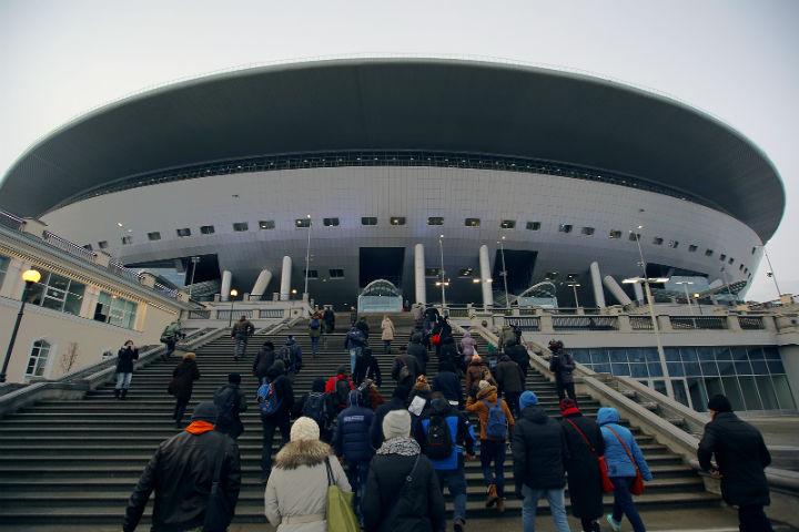 Настадионе «Крестовский» прорвало водопровод