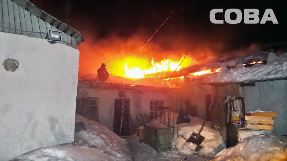 Пожар вмастерской поремонту мебели вЕкатеринбурге потушили