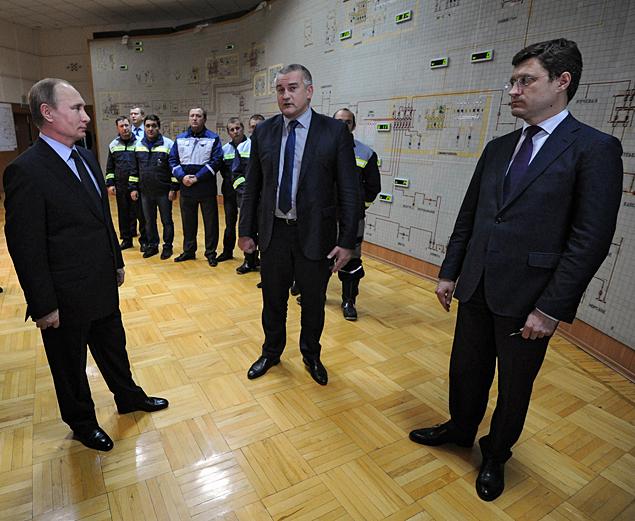 Президент прилетел в Симферополь, чтобы запустить энергомост с Кубанью Фото: РИА Новости