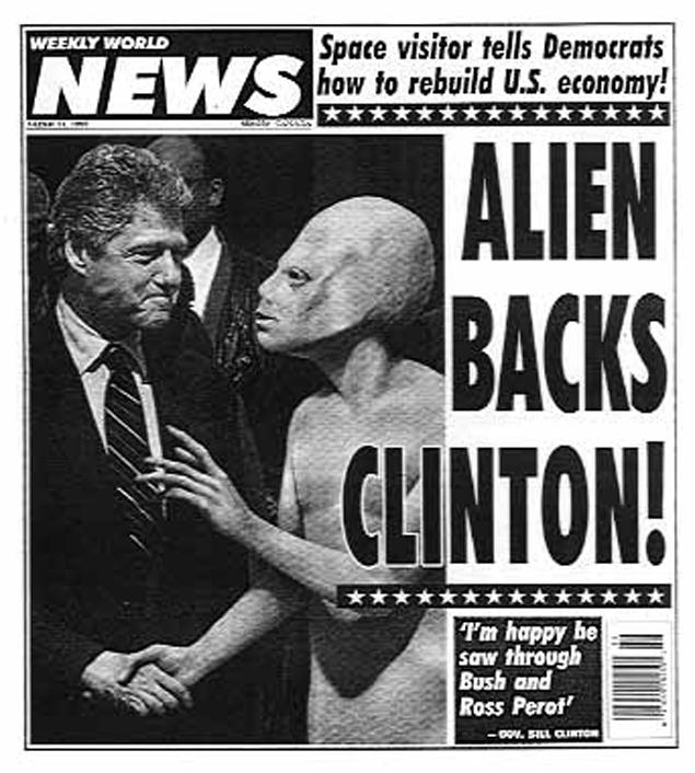 Интерес Билла к пришельцам не раз становился поводом для шуток.