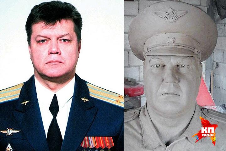 Скульптор говорит, что готов отправить бюст летчика в Россию, передать семье Олега Пешкова, а может быть, даже «поставить в Кремле».