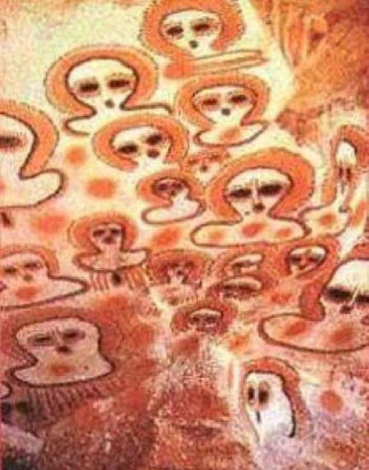 Так изобразили пришельцев аборигены древней Австралии.