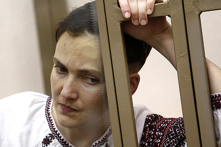 Надежда Савченко в зале заседания суда в феврале 2016 года. Фото: Валерий Матыцин/ТАСС