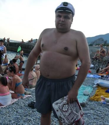 на крымских пляжах.