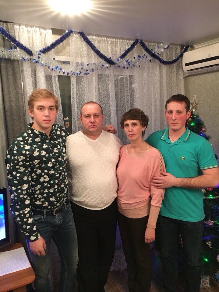 Михаил Воробьев с родными