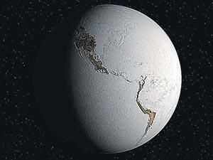 Таким «снежком» нашапланета, возможно, была 700 млн. лет назад (компьютерная графика).