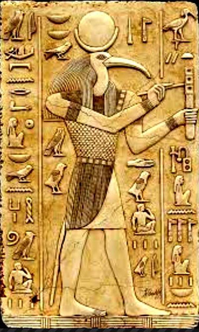 Так изображали Тота древние египтяне - явным пришельцем