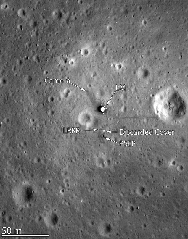Место посадки Аполлона-11 в высоком разрешении