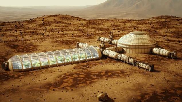 Примерно такую базу люди хотят построить на Марсе