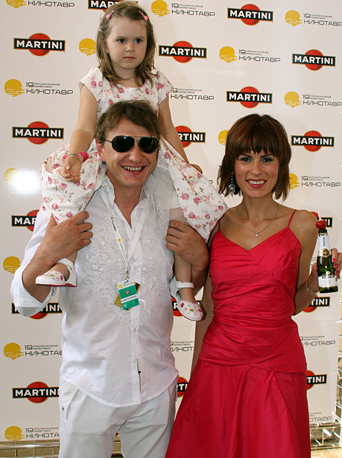 Марат Башаров с бывшей женой Елизаветой Круцкой и дочерью Амели. Фото Анатолия Мелихова