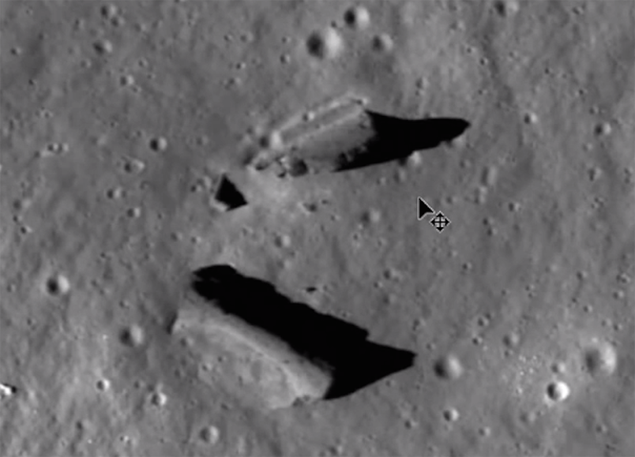 Руины, обюнаруженные на Луне виртуальными археологами