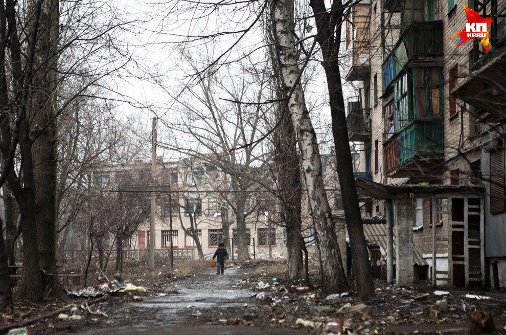 Бои в Дебальцево шли с мая. Спальный район 1-я Площадка пострадал больше всего. Фото: Нигина БЕРОЕВА