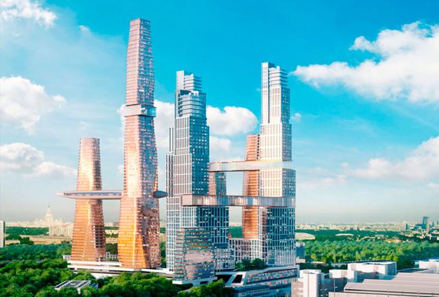 Новые небоскребы Москвы