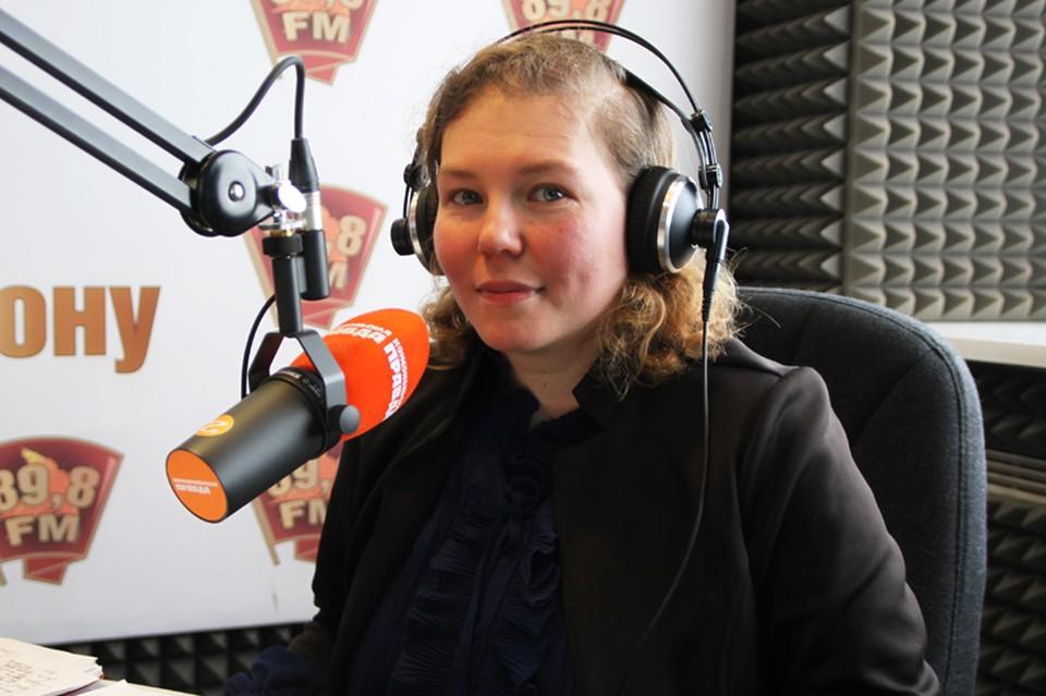 """Мария Карпун в студии радио """"КП-Ростов"""" (89,8 fm)"""