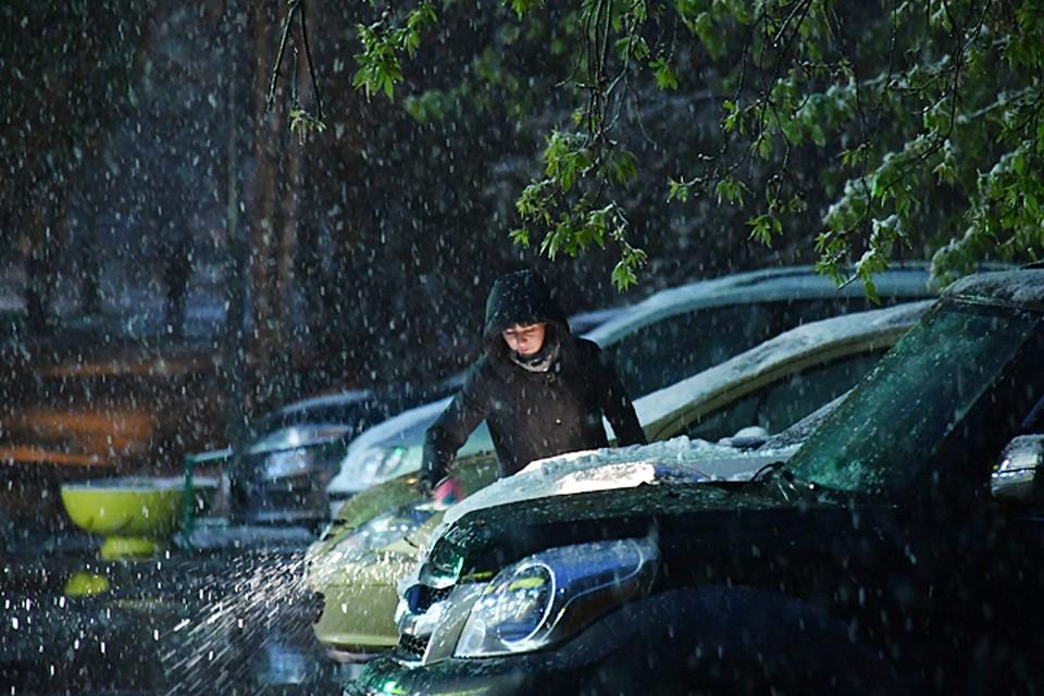 В этом году снег москвичи наблюдали даже в июне