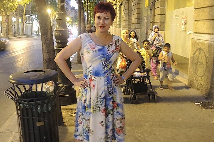 "Спецкор ""Комсомолки"" Дарья Асламова на улицах Палермо."